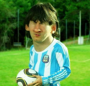 messi funny image
