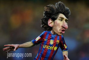 messi carton photo