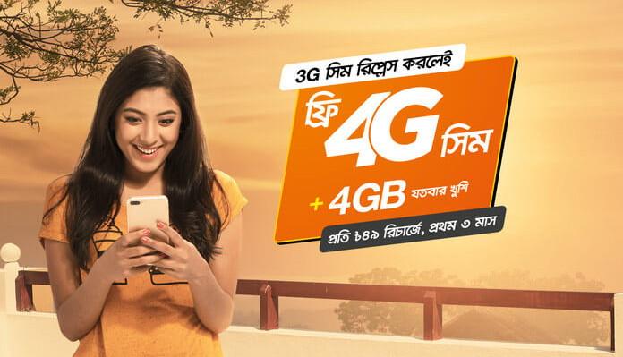বাংলালিংক 3G সিম রিপ্লেস